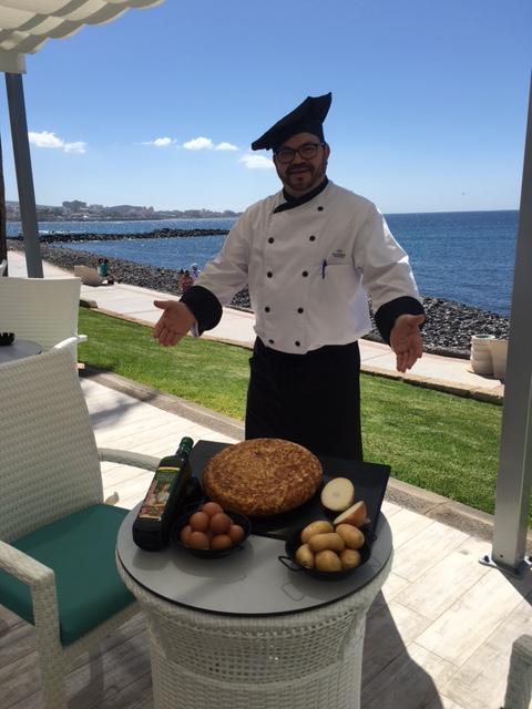 Chef Juan Bermúdez Atienza y su tortilla de patatas