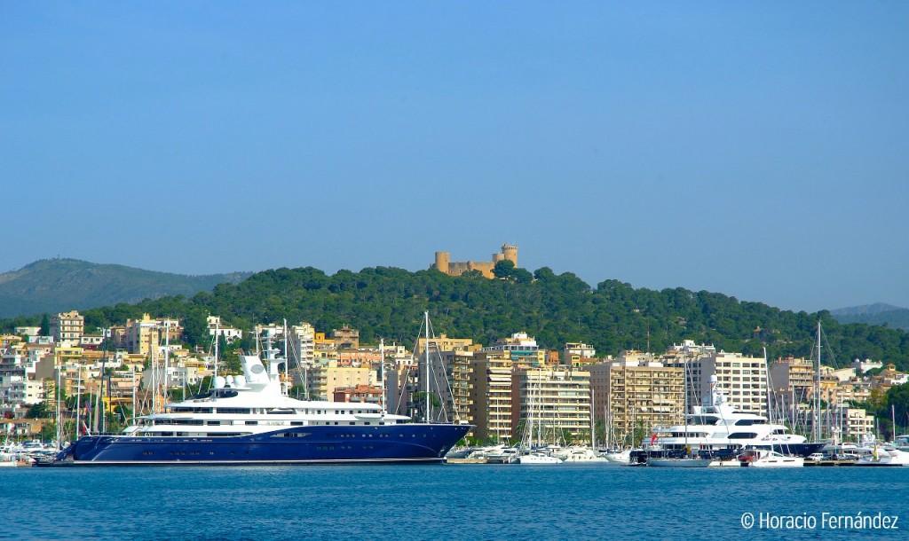 Palma Bay and Bellver Castle Majorca