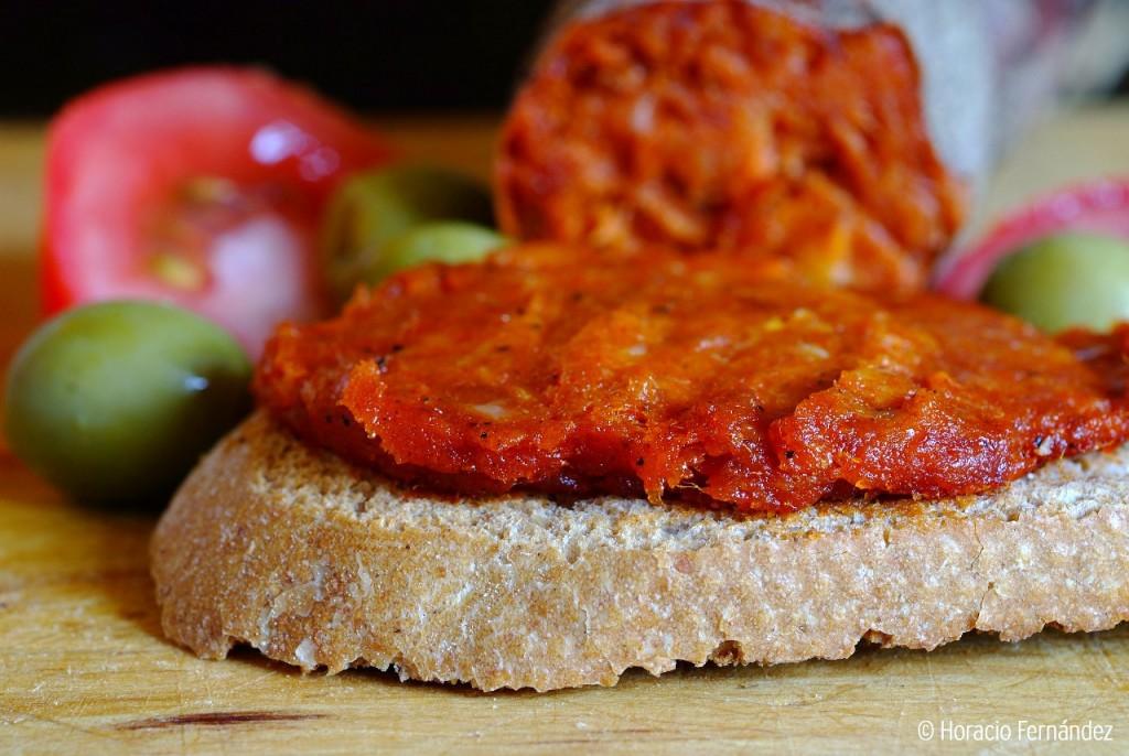 Pan con sobrasada Mallorca