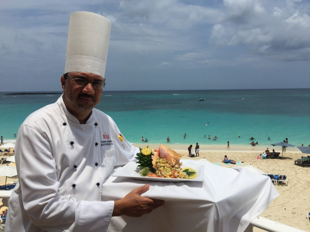 Chef of the Riu Palace Paradise Island hotel
