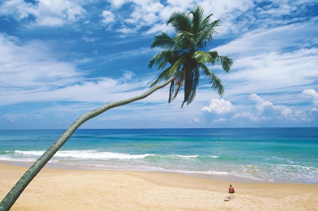Playas de arena blanca en Sri Lanka