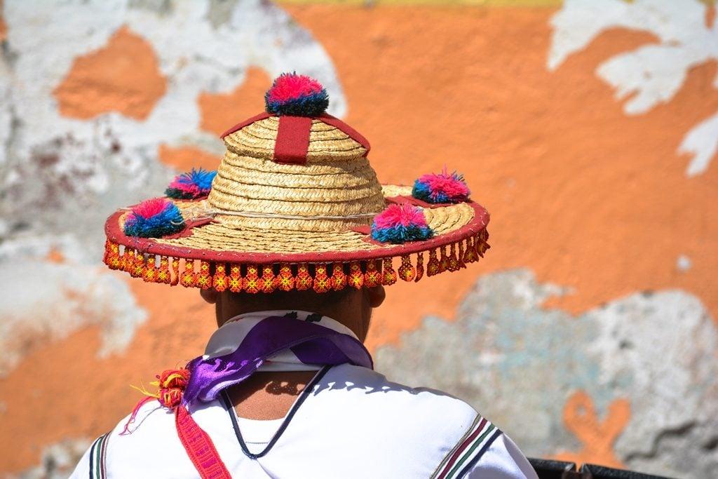 Traditional Huichol hat