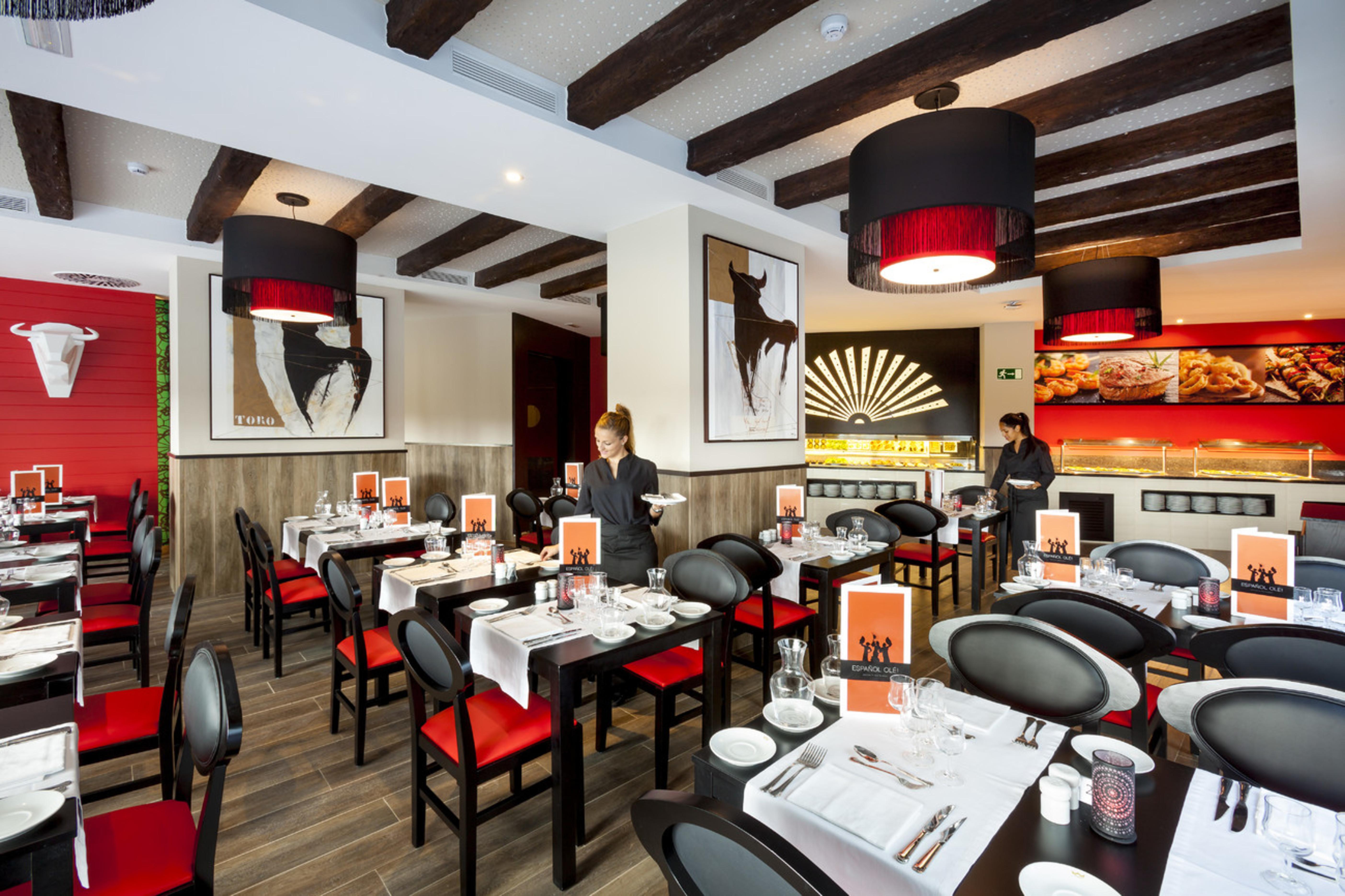 Probiere die köstliche spanische Küche in unserem Olé-Restaurant ...