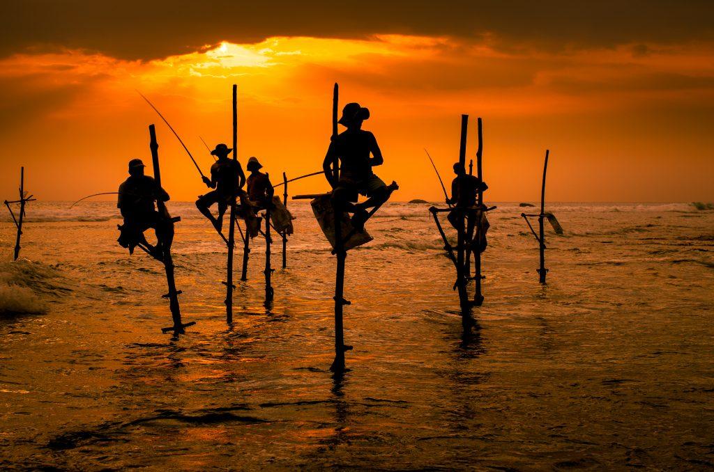 Fishermen in Weligama