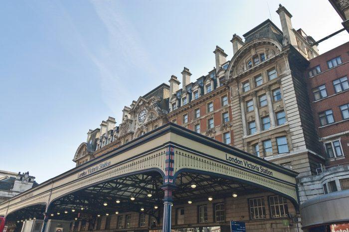 Victoria Station befindet sich neben dem künftigen RIU-Haus in London