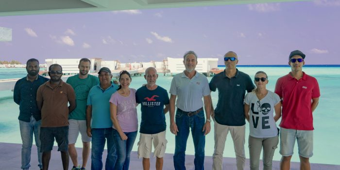 Luis Rui, CEO of RIU Hotels & Resorts, visits the construction works of the group´s two new hotels in Maldives