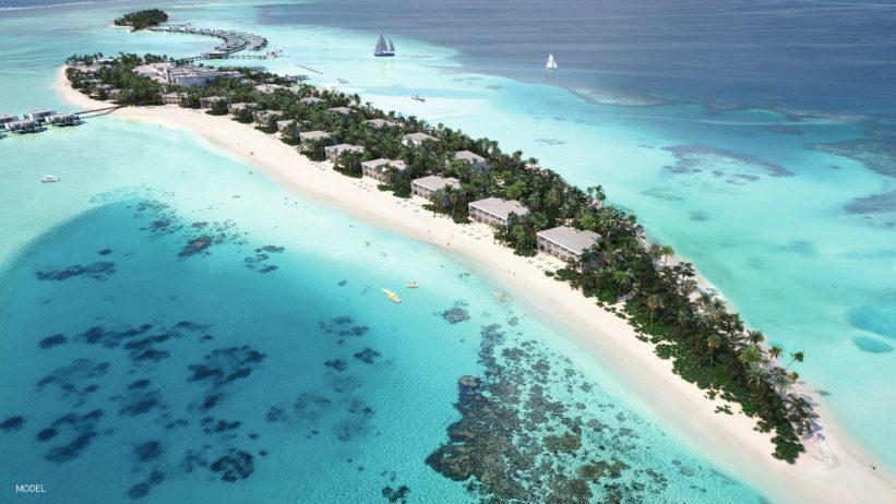 Instalaciones del hotel Riu Atoll en el islote de Maafushi en Maldivas