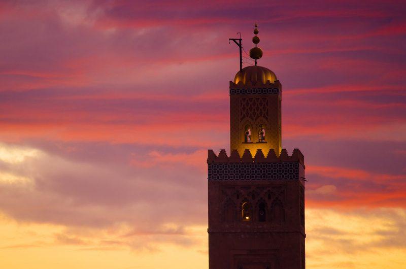 La mezquita de Koutobia se aprecia desde casi todos los puntos de la ciudad