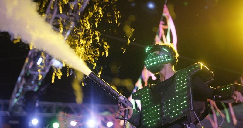 Schaum ist eines der Haupbestandteile der Animation der Riu Pool Party