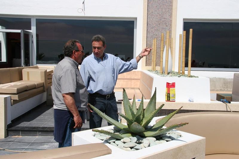 Luis Riu y Ramón Arroyo en una imagen de hace 9 años en el hotel Riu La Mola, en Formentera
