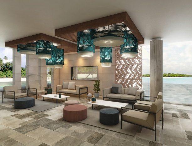 Lobby des Hotels Riu Palace Maldivas
