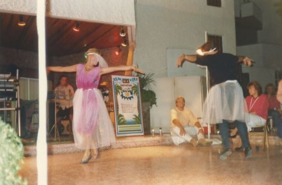 Among the challenges they competed in a dance contest