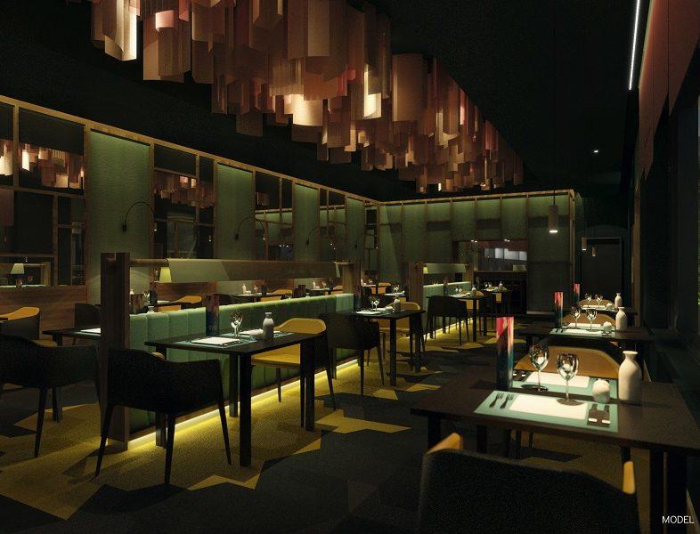 Das Restaurant Fusion befindet sich im Hotel Riu Palace Maldivas luft