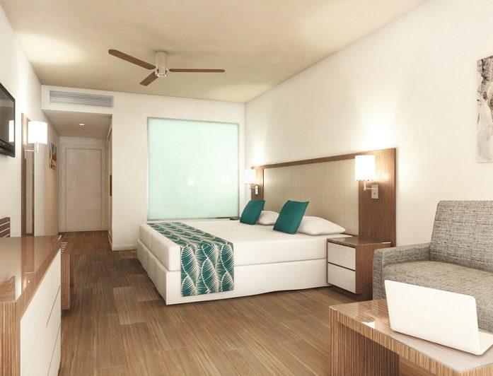Las habitaciones del hotel Riu Atoll están provistas de todo lo necesario para tu descanso