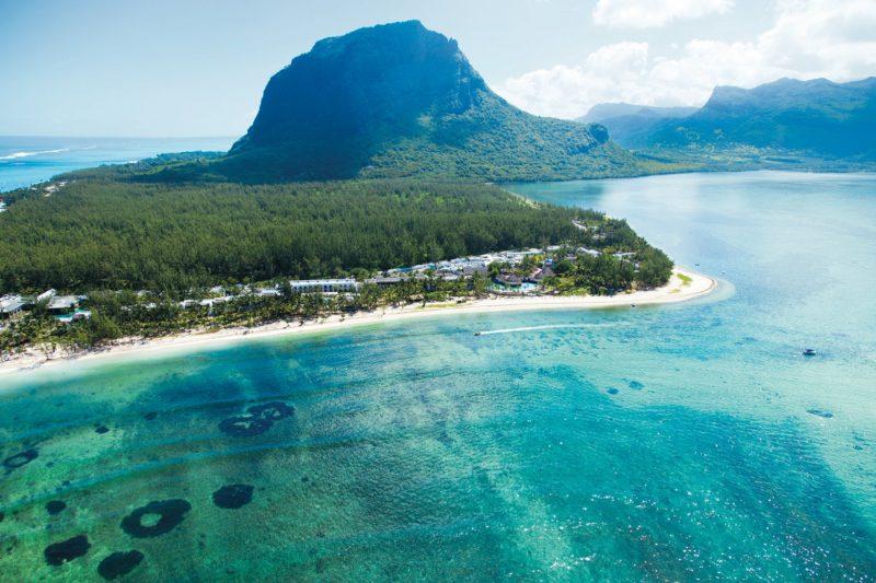 Vista panorámica de las Islas Mauricio