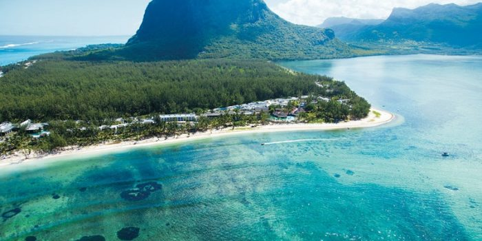 Panoramic view of the islands of Mauritius