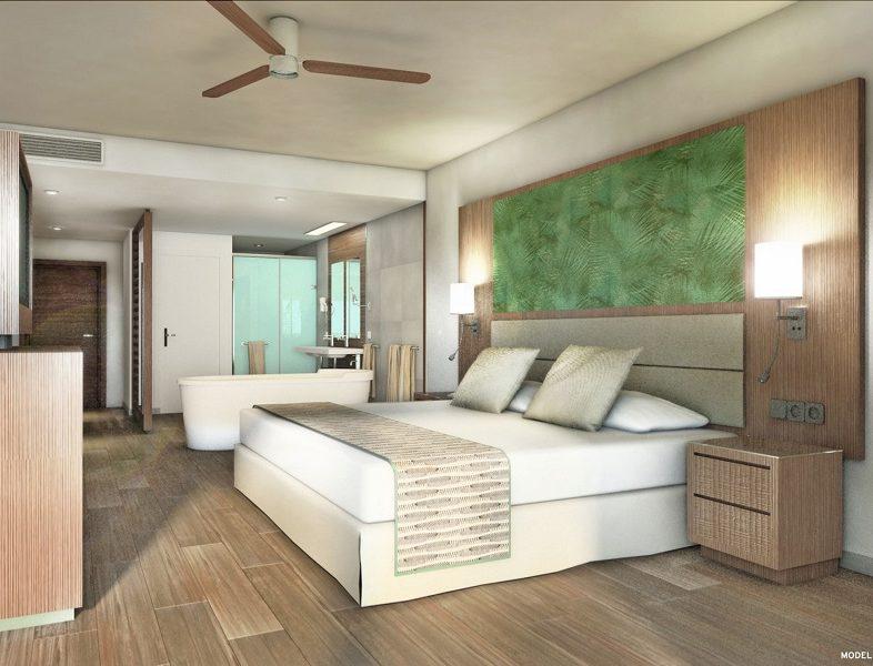 Innenausstattung der Zimmer des Hotels Riu Palace Maldivas