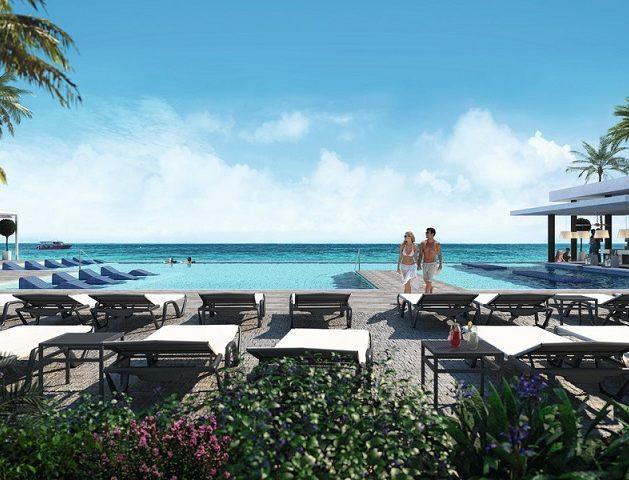 So sieht der von allen Gästen benutzte Pool des Hotels Riu Atoll aus