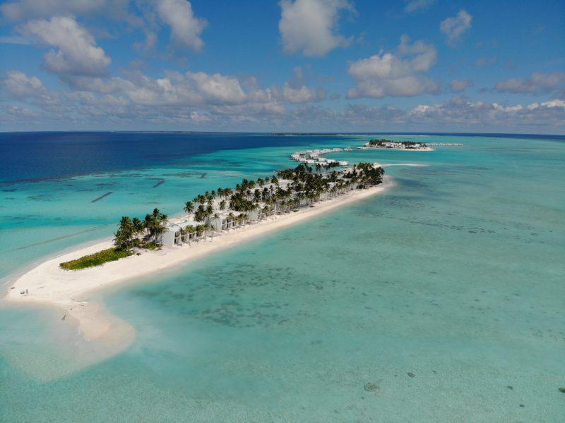 Así es la vista actual que presentan los hoteles de RIU en Maldivas