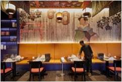 The Asian restaurant is located in the hotel Riu Palace Maldivas