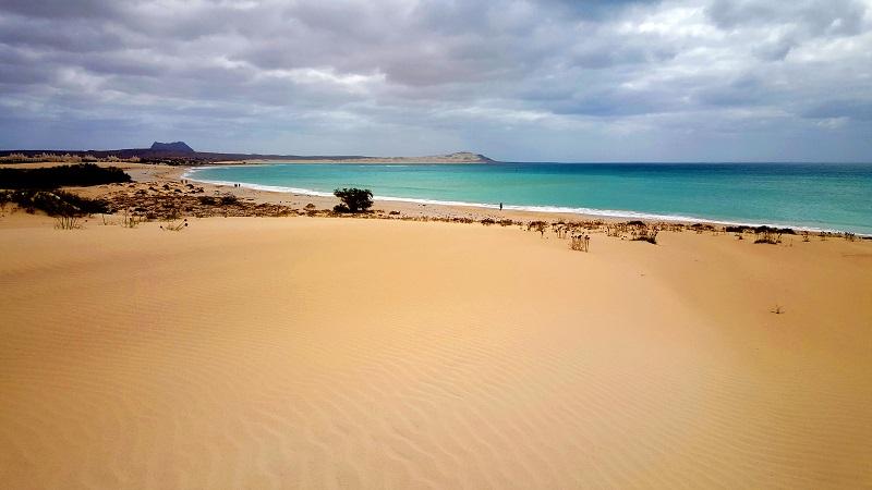Die Dünen sind für die Strände von Boa Vista typisch