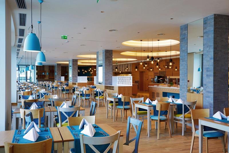 So sieht das Snack-Restaurant 'Stagioni' aus, das sich am Abend in ein italienisches Spezialitätenrestaurant verwandelt
