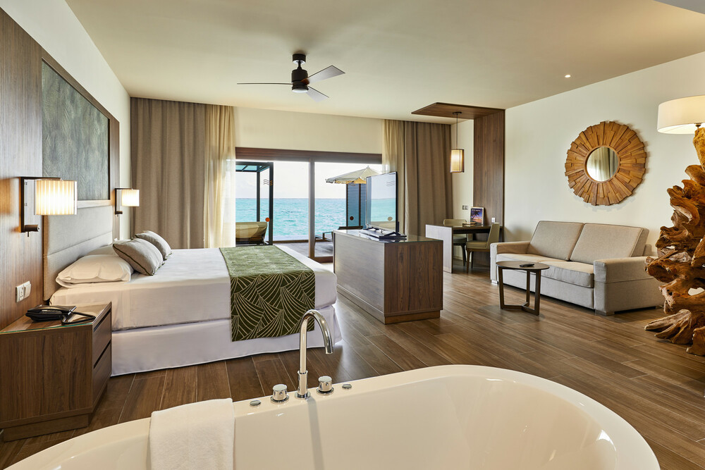 At the Riu Palace Maldivas guests have access to bedrooms with their own private pool
