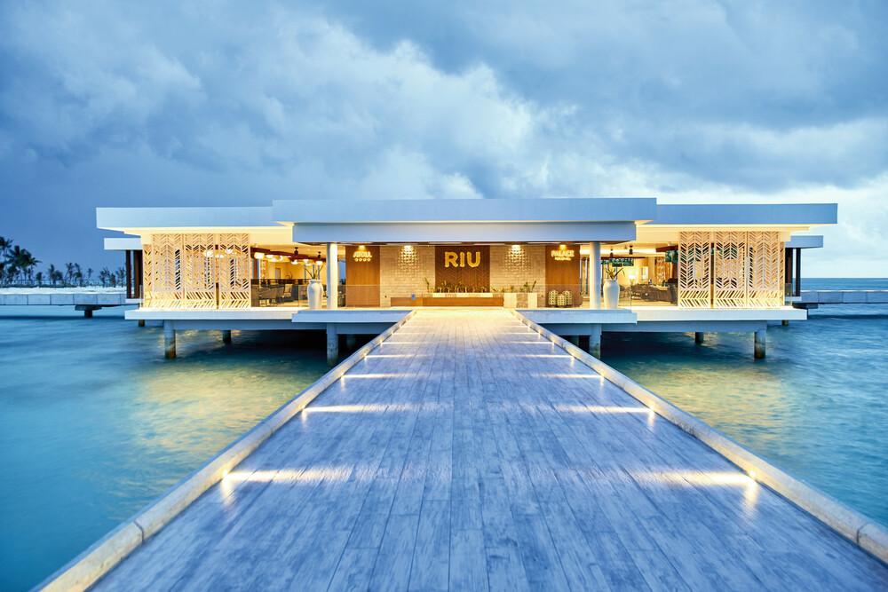 Die Hotels Riu Atoll und Riu Palace Maldivas teilen sich die Rezeption