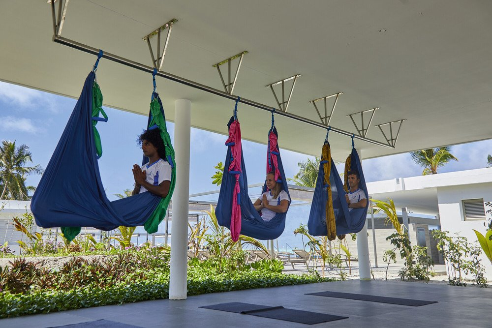 AeroYoga and Paddle yoga are exclusive RIU activities in the Maldives