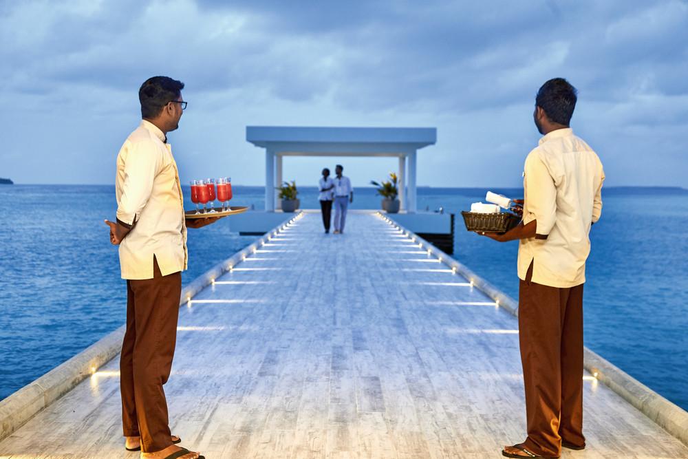 The two RIU hotels in the Maldives share a reception desk