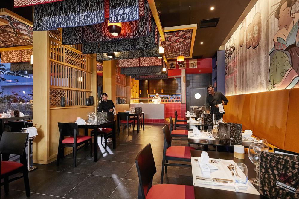 En el Japonés del hotel Riu Palace Maldivas también hay sushi en vivo