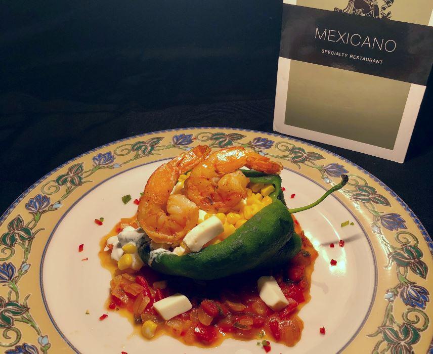 Stuffed chile dish at the Riu Yucatan hotel