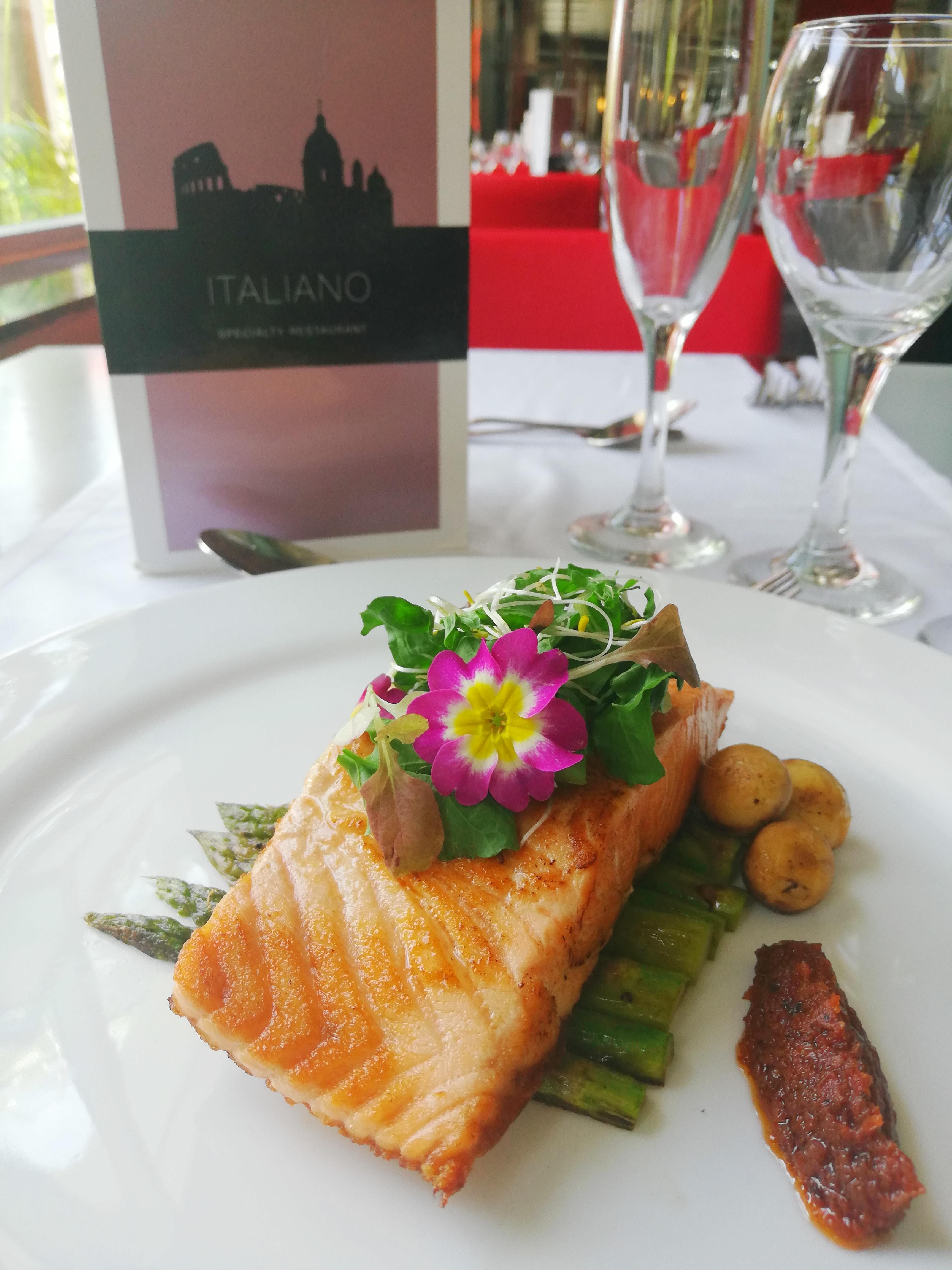"""Grilled Salmon Fillet"" at RIU"