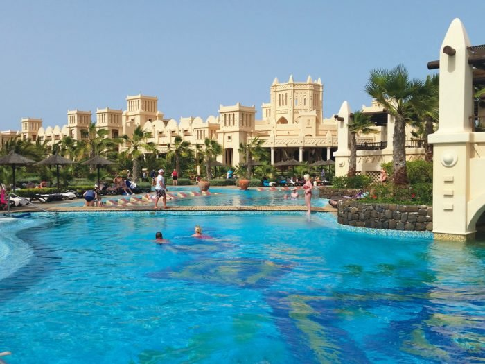 The Riu Touareg hotel has five swimming pools, two of them for children