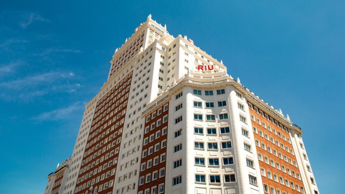 Hotel Riu Plaza España, one of Luis Riu's latest projects