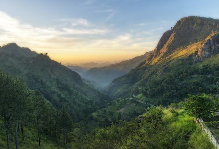 Sri Lanka que se caracteriza por la presencia de un paisaje verde, animales salvajes y preciosas playas.