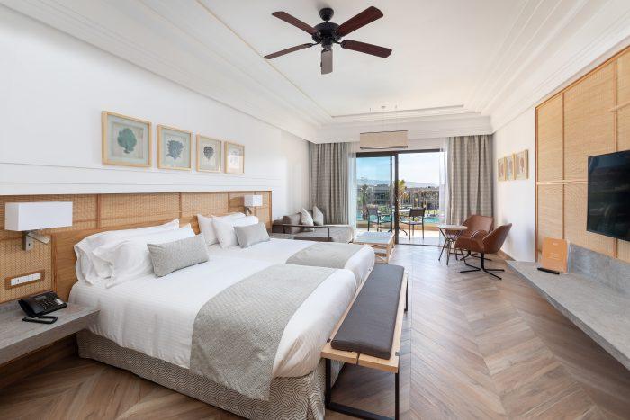Die Zimmer des neuen RIU-Hotels zeichnen sch durch ihre erlesene Gestaltung aus