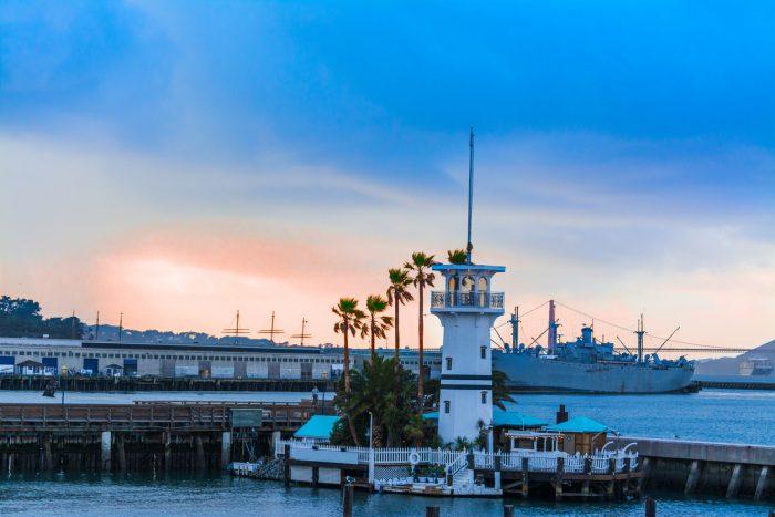 Fisherman's Wharf, eine der meist besuchten Sehenswürdigkeiten in San Francisco