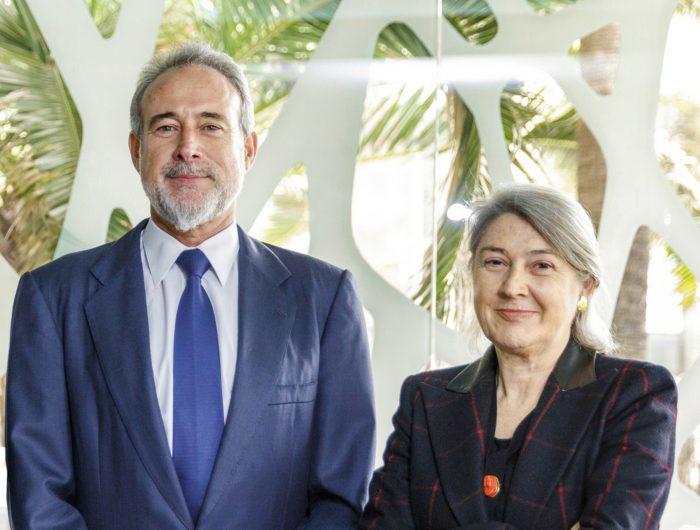 Luis Riu and Carmen Riu, owners of the RIU hotel group
