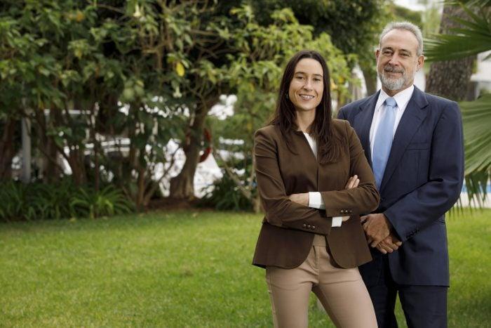 Luis Riu, Besitzer der RIU-Hotelkette, mit seiner Tochter Naomi Riu