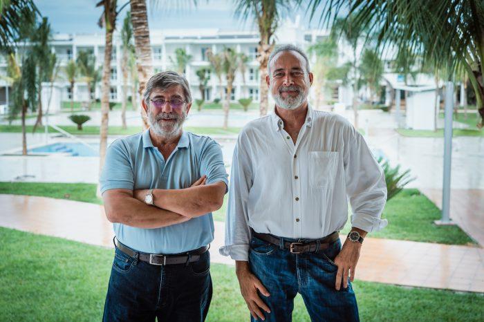 Luis Riu, CEO de Riu Hotels & Resorts, y Alejandro Sánchez, director de Operaciones para el Caribe de habla inglesa