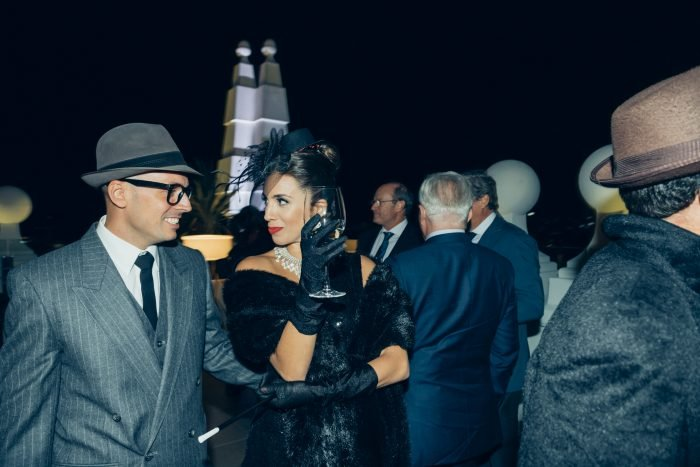 Actors on the 360º terrace during the hotel's opening party.